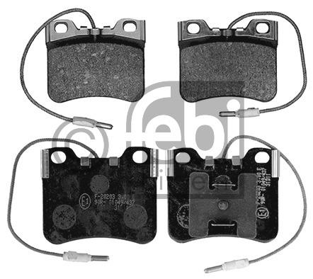 Kit de plaquettes de frein, frein à disque - FEBI BILSTEIN - 16368