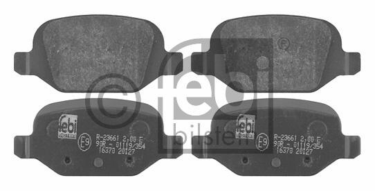 Kit de plaquettes de frein, frein à disque - FEBI BILSTEIN - 16370