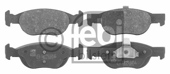 Kit de plaquettes de frein, frein à disque - FEBI BILSTEIN - 16372