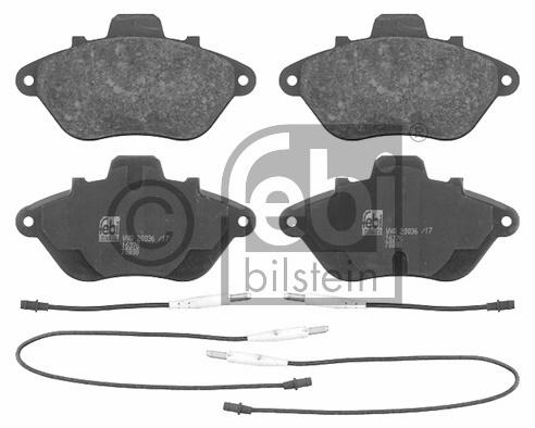 Kit de plaquettes de frein, frein à disque - FEBI BILSTEIN - 16376
