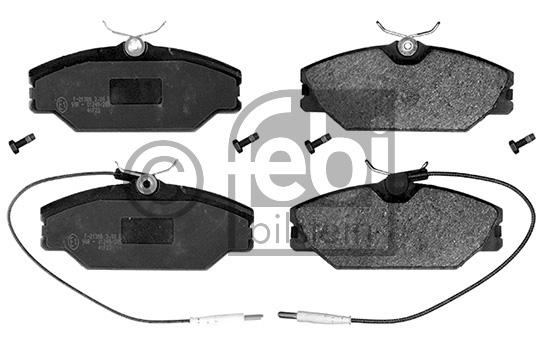 Kit de plaquettes de frein, frein à disque - FEBI BILSTEIN - 16381