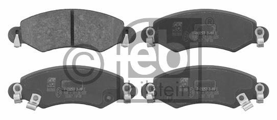 Kit de plaquettes de frein, frein à disque - FEBI BILSTEIN - 16387
