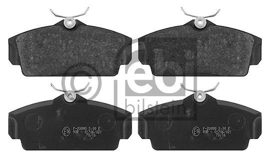 Kit de plaquettes de frein, frein à disque - FEBI BILSTEIN - 16388