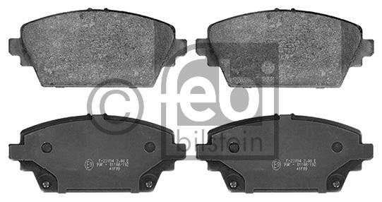 Kit de plaquettes de frein, frein à disque - FEBI BILSTEIN - 16389