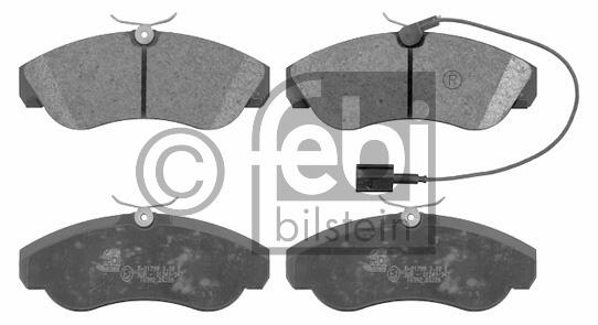 Kit de plaquettes de frein, frein à disque - FEBI BILSTEIN - 16392