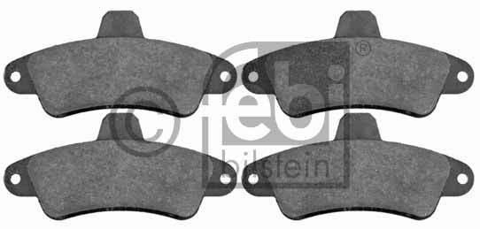 Kit de plaquettes de frein, frein à disque - FEBI BILSTEIN - 16393