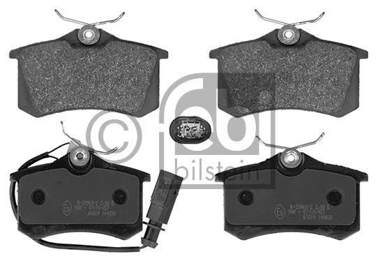 Kit de plaquettes de frein, frein à disque - FEBI BILSTEIN - 16394