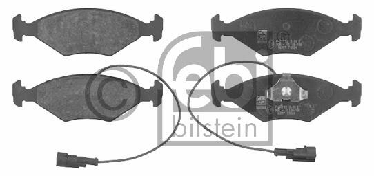 Kit de plaquettes de frein, frein à disque - FEBI BILSTEIN - 16397