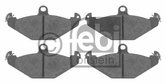 Kit de plaquettes de frein, frein à disque - FEBI BILSTEIN - 16403