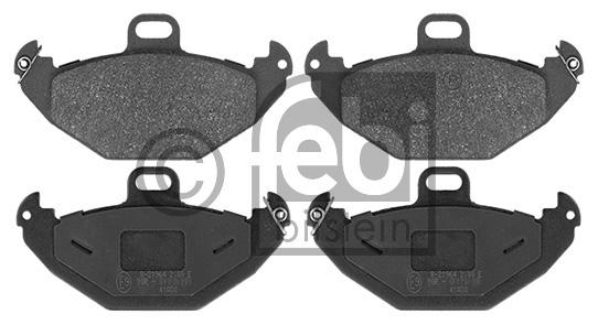 Kit de plaquettes de frein, frein à disque - FEBI BILSTEIN - 16405