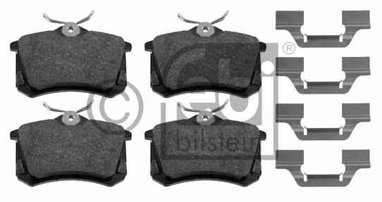 Kit de plaquettes de frein, frein à disque - FEBI BILSTEIN - 16406