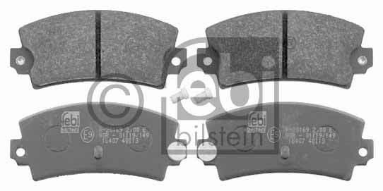 Kit de plaquettes de frein, frein à disque - FEBI BILSTEIN - 16407
