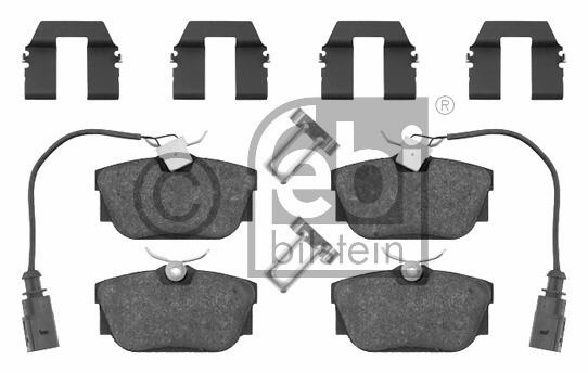 Kit de plaquettes de frein, frein à disque - FEBI BILSTEIN - 16408
