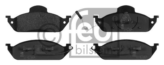 Kit de plaquettes de frein, frein à disque - FEBI BILSTEIN - 16410
