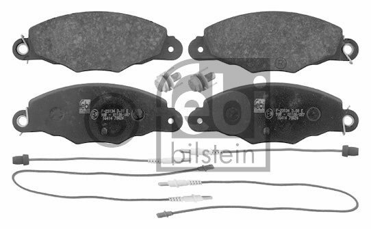 Kit de plaquettes de frein, frein à disque - FEBI BILSTEIN - 16414