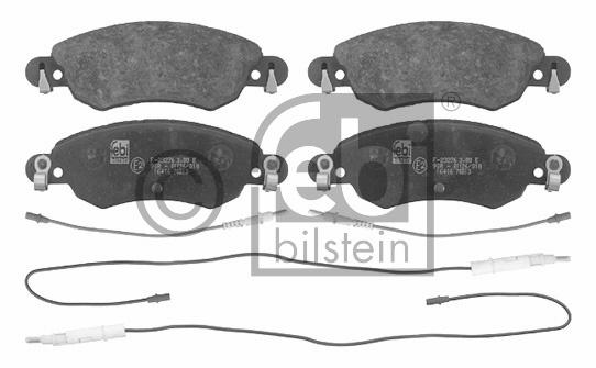 Kit de plaquettes de frein, frein à disque - FEBI BILSTEIN - 16416