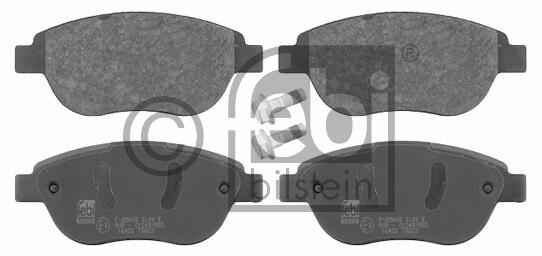 Kit de plaquettes de frein, frein à disque - FEBI BILSTEIN - 16422