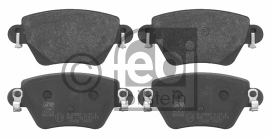Kit de plaquettes de frein, frein à disque - FEBI BILSTEIN - 16426