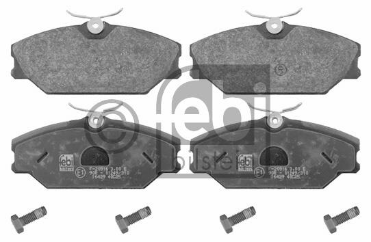 Kit de plaquettes de frein, frein à disque - FEBI BILSTEIN - 16429