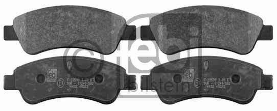Kit de plaquettes de frein, frein à disque - FEBI BILSTEIN - 16432