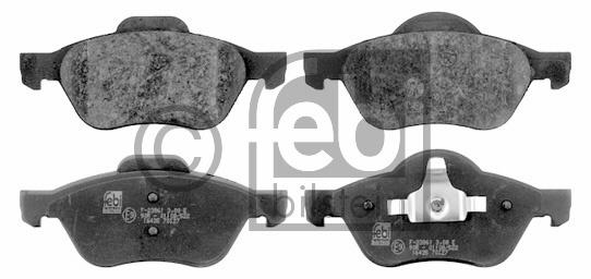 Kit de plaquettes de frein, frein à disque - FEBI BILSTEIN - 16435