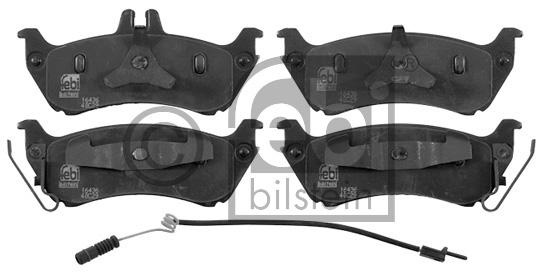 Kit de plaquettes de frein, frein à disque - FEBI BILSTEIN - 16436
