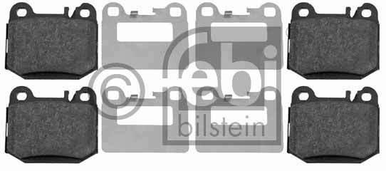 Kit de plaquettes de frein, frein à disque - FEBI BILSTEIN - 16437