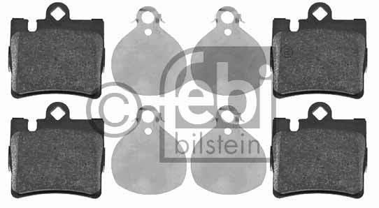 Kit de plaquettes de frein, frein à disque - FEBI BILSTEIN - 16438