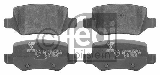 Kit de plaquettes de frein, frein à disque - FEBI BILSTEIN - 16440