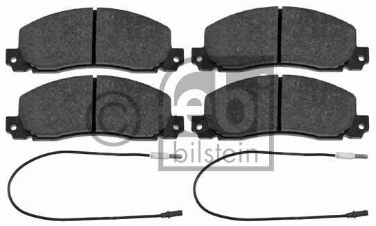 Kit de plaquettes de frein, frein à disque - FEBI BILSTEIN - 16443