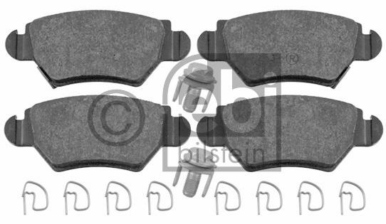 Kit de plaquettes de frein, frein à disque - FEBI BILSTEIN - 16445