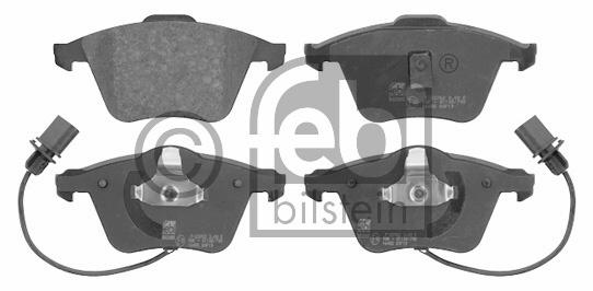 Kit de plaquettes de frein, frein à disque - FEBI BILSTEIN - 16455