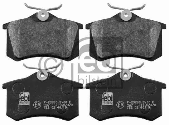 Kit de plaquettes de frein, frein à disque - FEBI BILSTEIN - 16457
