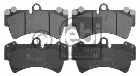 Kit de plaquettes de frein, frein à disque - FEBI BILSTEIN - 16460
