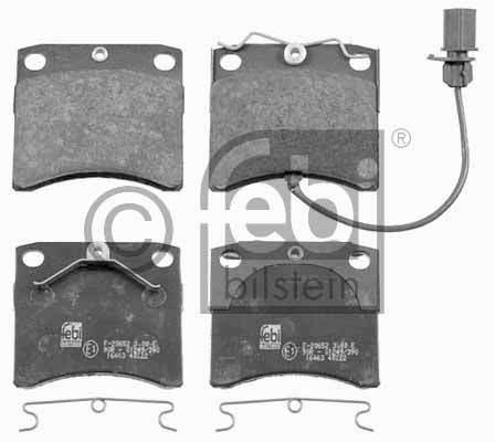 Kit de plaquettes de frein, frein à disque - FEBI BILSTEIN - 16463