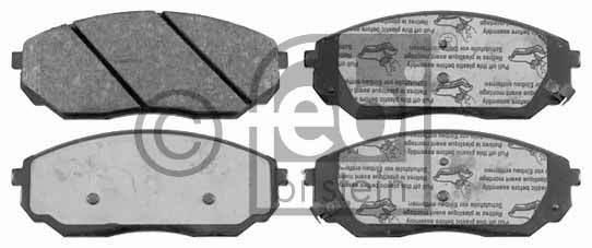 Kit de plaquettes de frein, frein à disque - FEBI BILSTEIN - 16471