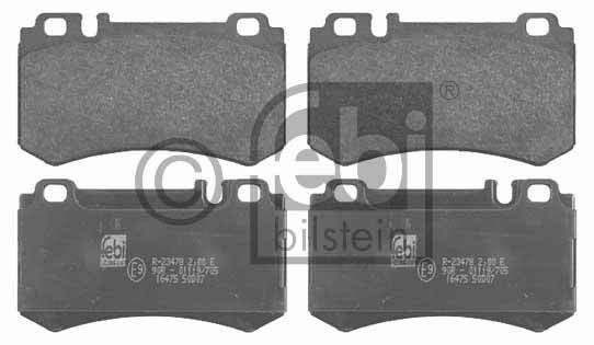Kit de plaquettes de frein, frein à disque - FEBI BILSTEIN - 16475