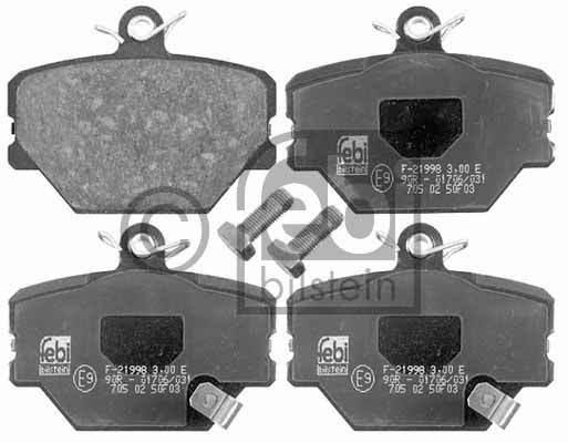 Kit de plaquettes de frein, frein à disque - FEBI BILSTEIN - 16485