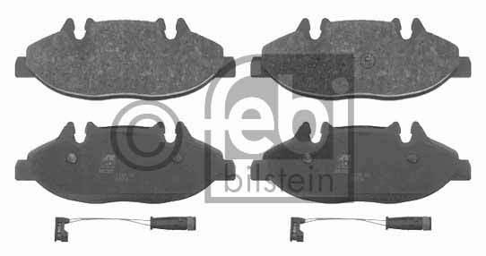 Kit de plaquettes de frein, frein à disque - FEBI BILSTEIN - 16487