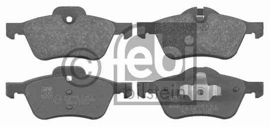 Kit de plaquettes de frein, frein à disque - FEBI BILSTEIN - 16490