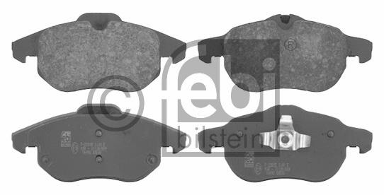 Kit de plaquettes de frein, frein à disque - FEBI BILSTEIN - 16492