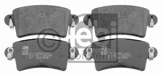 Kit de plaquettes de frein, frein à disque - FEBI BILSTEIN - 16493