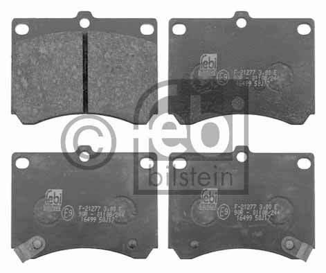 Kit de plaquettes de frein, frein à disque - FEBI BILSTEIN - 16499