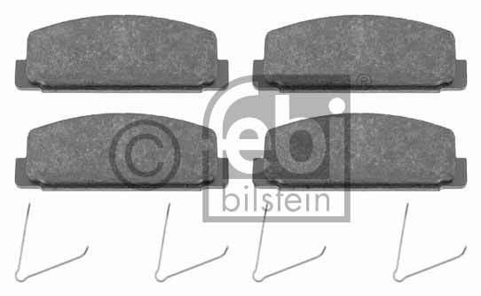 Kit de plaquettes de frein, frein à disque - FEBI BILSTEIN - 16500
