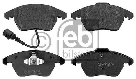 Kit de plaquettes de frein, frein à disque - FEBI BILSTEIN - 16502