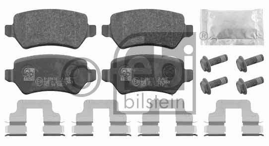 Kit de plaquettes de frein, frein à disque - FEBI BILSTEIN - 16512
