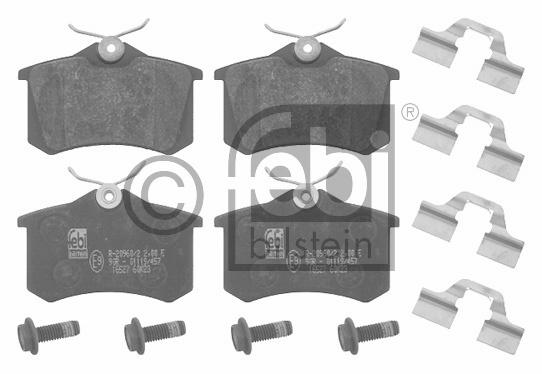 Kit de plaquettes de frein, frein à disque - FEBI BILSTEIN - 16527