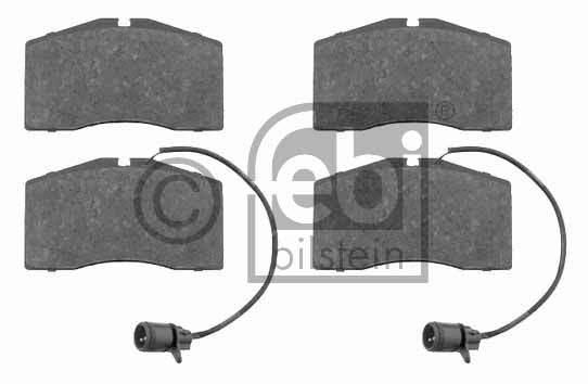 Kit de plaquettes de frein, frein à disque - FEBI BILSTEIN - 16528