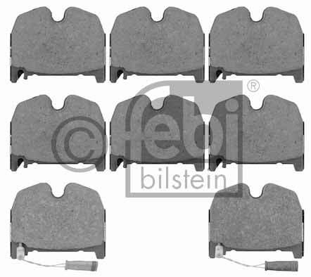 Kit de plaquettes de frein, frein à disque - FEBI BILSTEIN - 16534