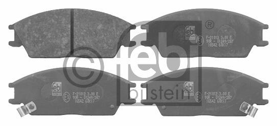 Kit de plaquettes de frein, frein à disque - FEBI BILSTEIN - 16542